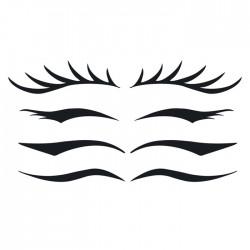 tatouage temporaire yeux eye liner