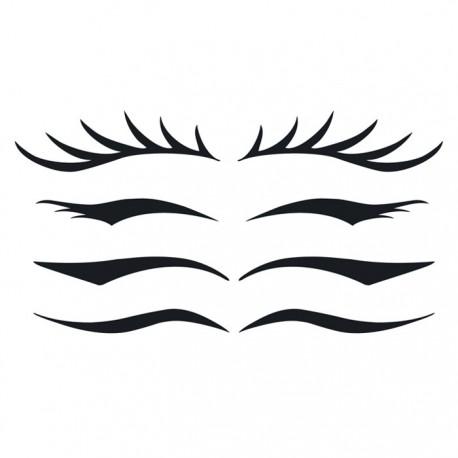 "tatouage temporaire d'yeux ""sexy eyes"""