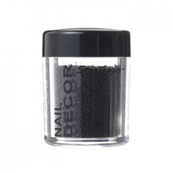caviar / décor billes noires pour ongles
