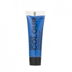 maquillage visage et corps néon / fluo bleu