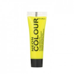 maquillage visage et corps néon / fluo jaune