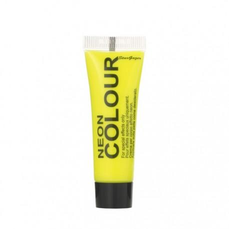 maquillage visage et corps UV jaune