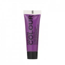 maquillage visage et corps néon / fluo violet