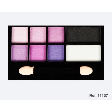 ombre à paupières silhouette rose/lilas