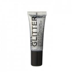 gel glitter visage corps et cheveux gris argent