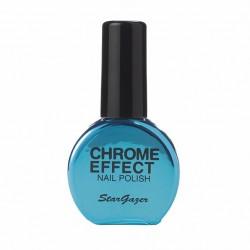vernis chrome : bleu