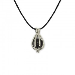 collier pendentif cage onyx