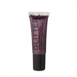 gel glitter visage corps et cheveux violet